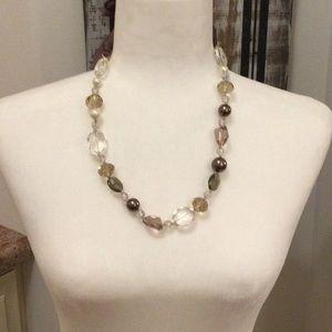 Stella & Dot Smoky Quartz Necklace